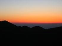 トンデン山からの夕焼け