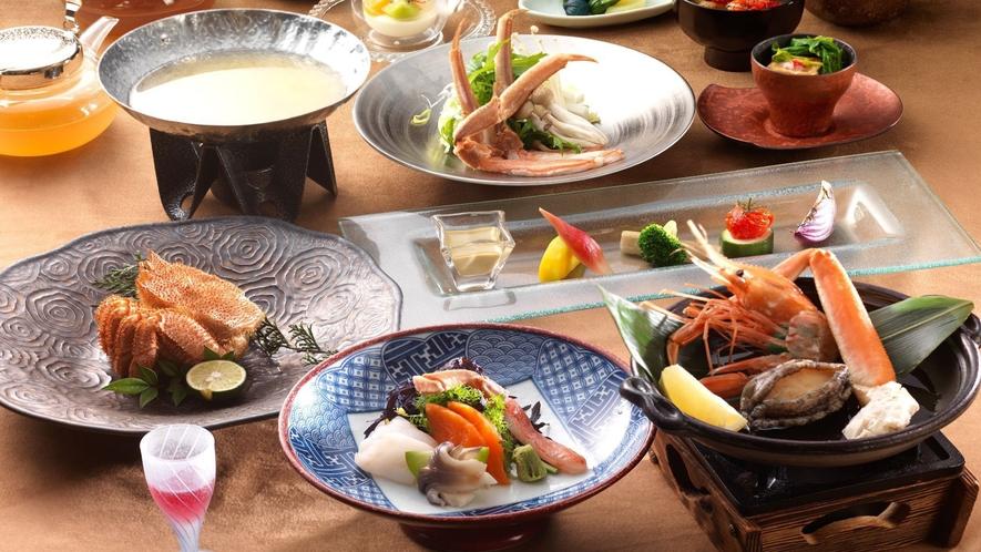 ◆カニ会席一例/数種類のカニを様々な調理法でお愉しみください
