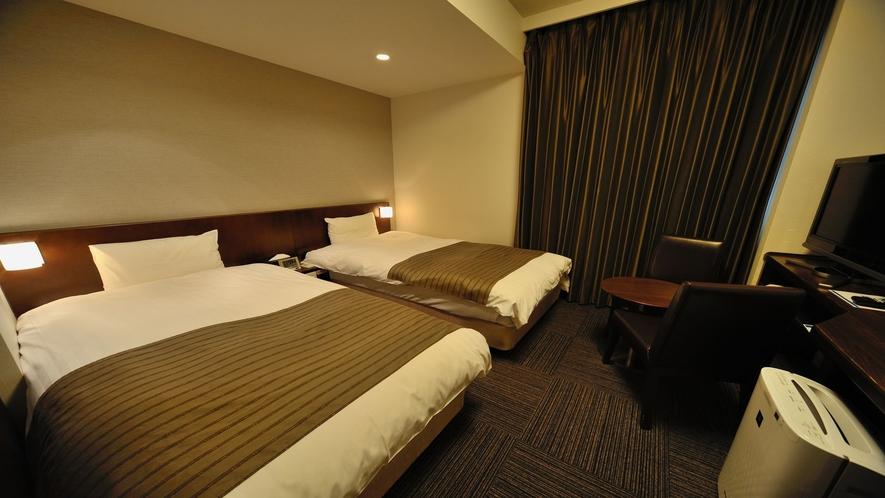 ■ツインルーム【禁煙】(シモンズ社製ベッド:100×195センチのシングルベッド2台)18平米