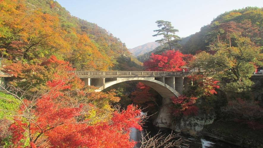 ■紅葉/長とろ橋(写真提供:甲府観光協会)