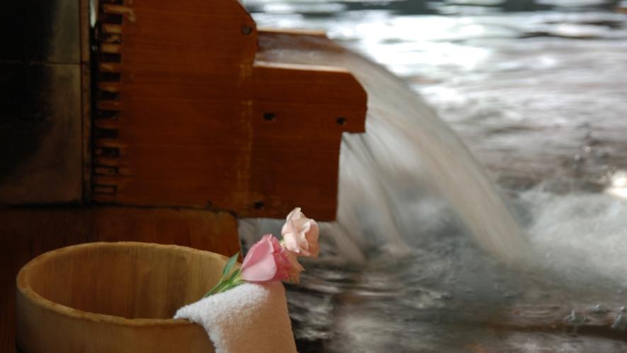 【大浴場/朋來の湯】良質の温泉。お湯の量も豊富です!