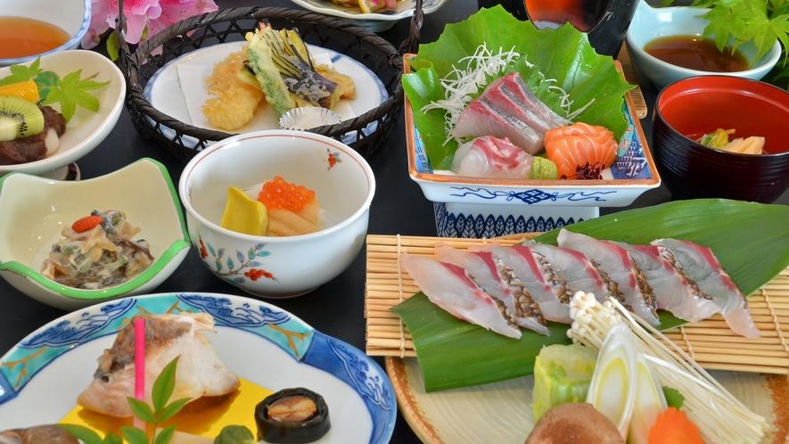 【選べるメイン・鯛しゃぶ】メインを肉又は魚から、お好みで選べるコース(写真はお魚コース)