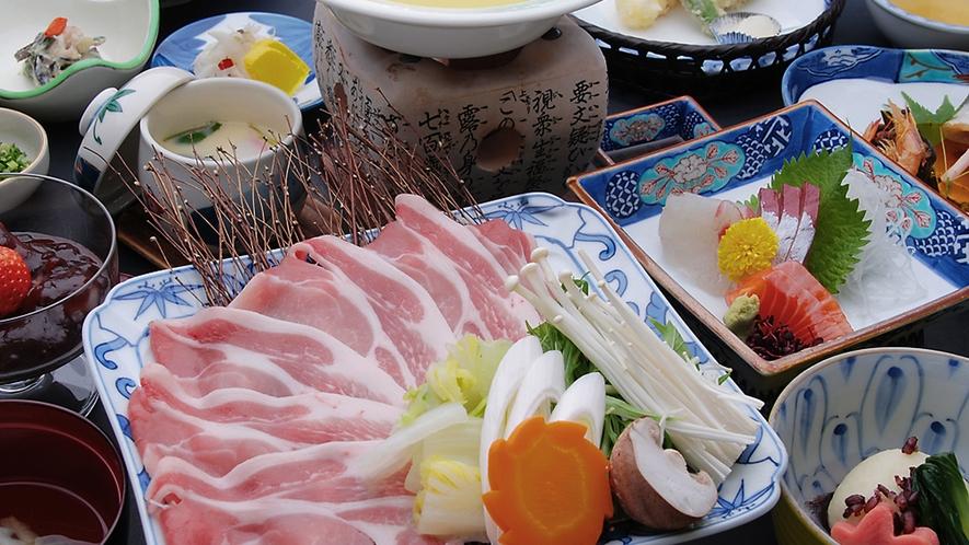 地元特産「レモングラス」×「若楠ポーク」しゃぶ鍋会席/一例