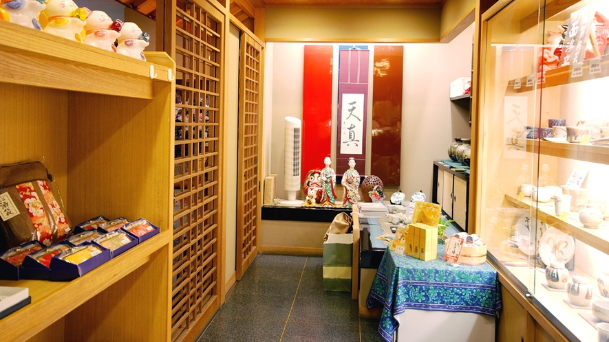 【1F売店】武雄のお土産やかわいい小物も揃えております。