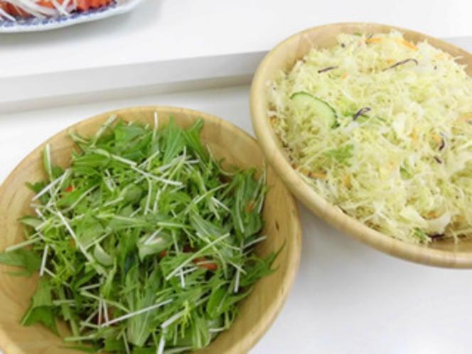 サラダ(水菜、キャベツミックス)