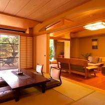 和洋室の設えで広々とした特別室【Dタイプ】