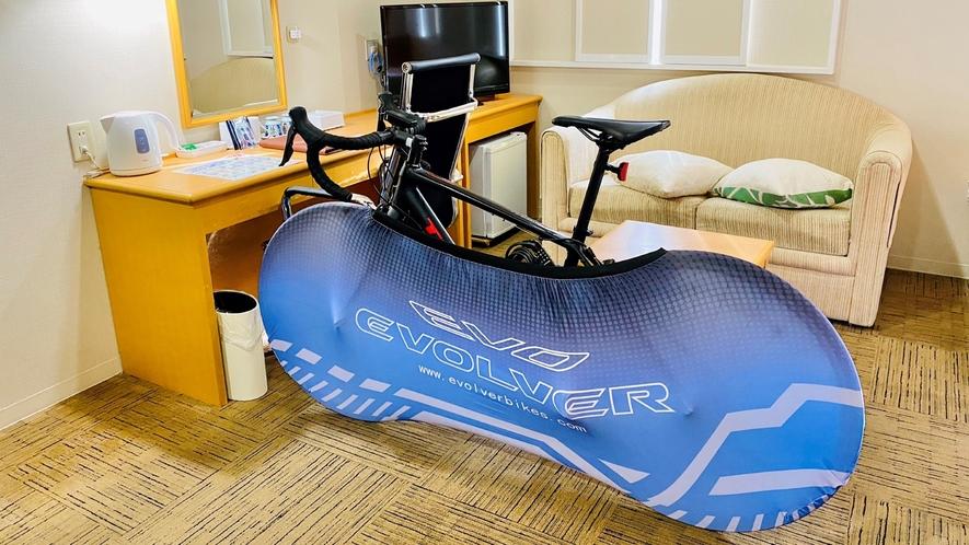 自転車を客室へ持ち込みOK