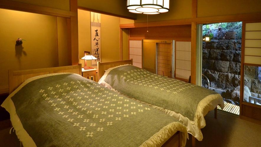 露天風呂付 特別室【蓬莱の間】/寝室