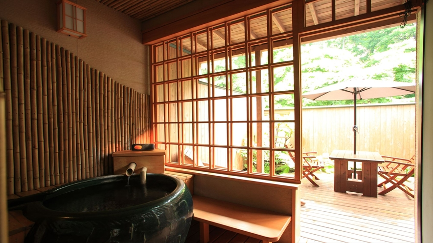 特別室「わたぼうし」客室露天風呂