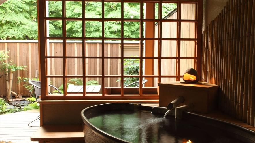 特別室「くまざさ」客室露天風呂
