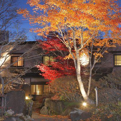 秋の紅葉外観