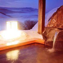 冬の雲海露天風呂