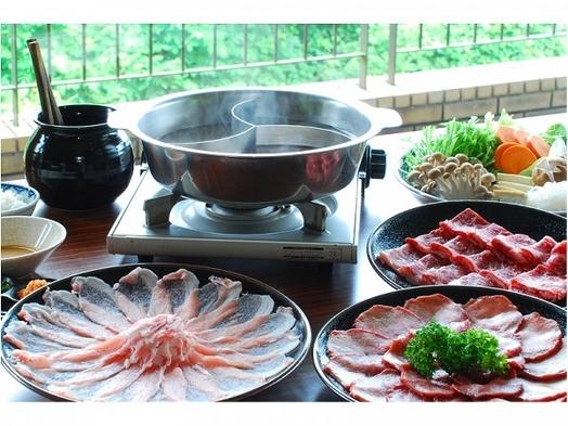【貸切風呂無料】特選和牛・国産豚の「しゃぶしゃぶ」と「かき鍋」&ハーフバイキング