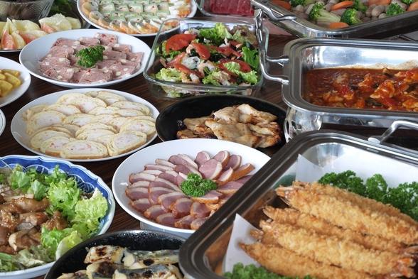 【貸切風呂無料】タラバガニ&仙台牛陶板焼き(ハーフバイキング付)