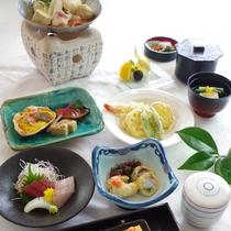 【彩会席】お料理少し控えめにお手軽に季節を楽しむ!女性や年配の方に人気です。