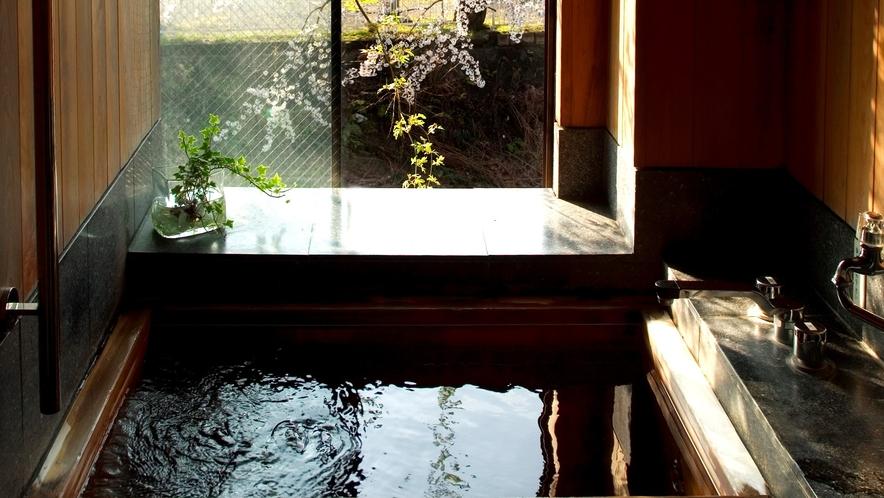 古代檜風呂の温泉