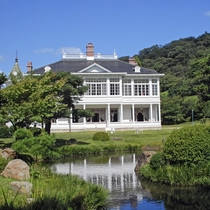 【仁風閣】お車で30分国重要文化財の白亜の洋館。美しい庭園もお楽しみください。