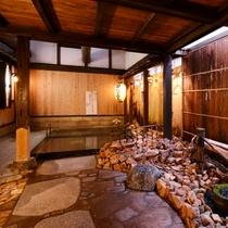 大浴場「祝いの湯」鳥取県内で唯一「日本秘湯を守る会」に加盟しております。