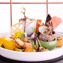 夕食一例「因幡路会席・月コース」