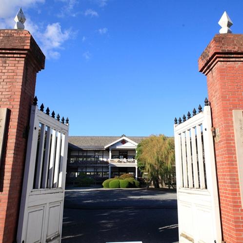 *【周辺観光 教育資料館】昭和48年まで使われていた校舎を「教育資料館」として公間しています