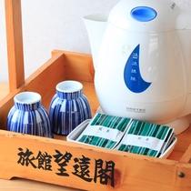 *【アメニティ】お茶セット、湯沸かしポット