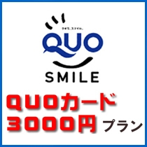 QUOカード3000円付プラン登場!
