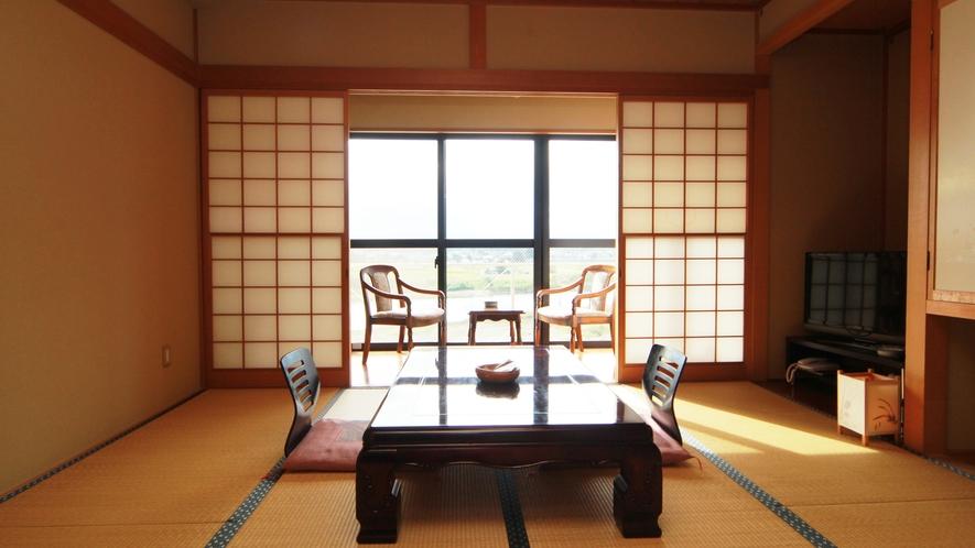 ■【客室一例】新館3階和室*那珂川の眺めをお楽しみください