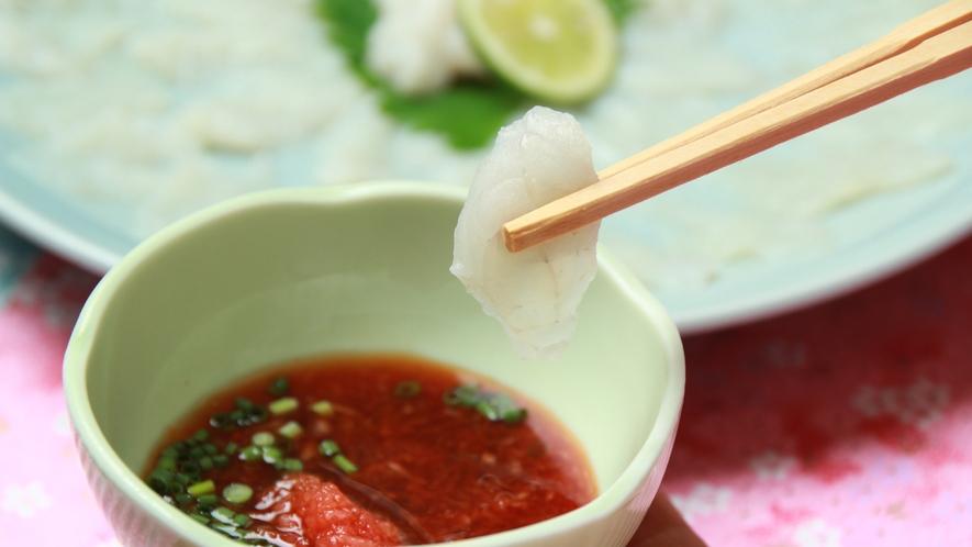 ■【夕食】単品 トラフグお刺身