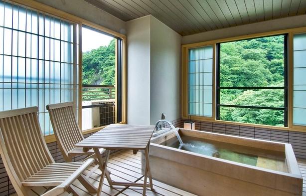 テラス風呂付客室で2人でゆっくり福三昧!!
