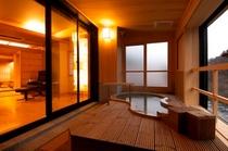 412出世の間 露天風呂