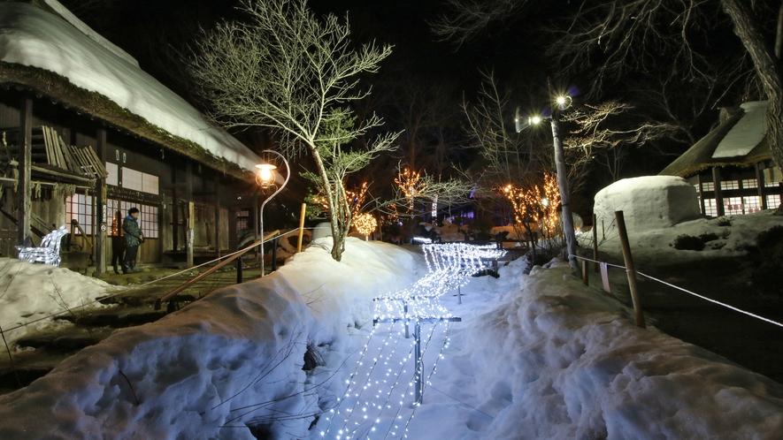■冬の湯西川のイベントかまくら祭り