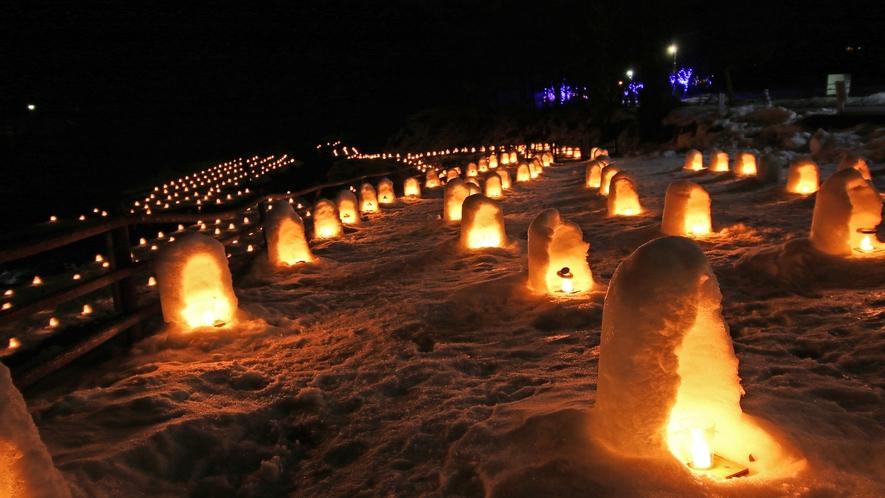 毎年1月下旬~3月上旬にかけて開催されるかまくら祭り