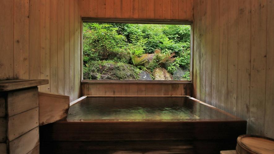 ■貸切風呂檜造りの貸切風呂。
