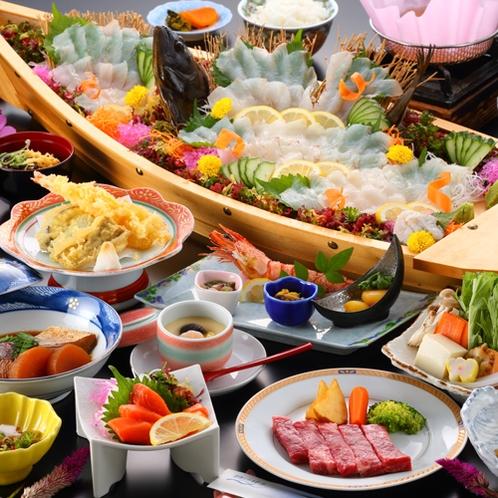 【夕食一例/お手軽プラン29年度秋冬】天草ならでは!鮮度抜群の海鮮をリーズナブルにお楽しみ頂けます♪