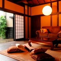【二階屋洋室】温泉露天風呂付離れ「十三夜」