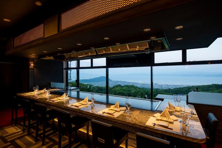鉄板焼レストラン「道」の眺望