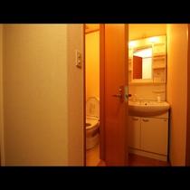 全室洗面とトイレ付