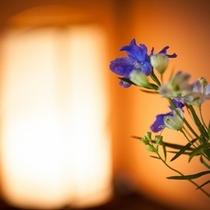 館内の活け花