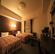 スタンダードツインルームはファミリーやカップルのお客様におススメでございます。