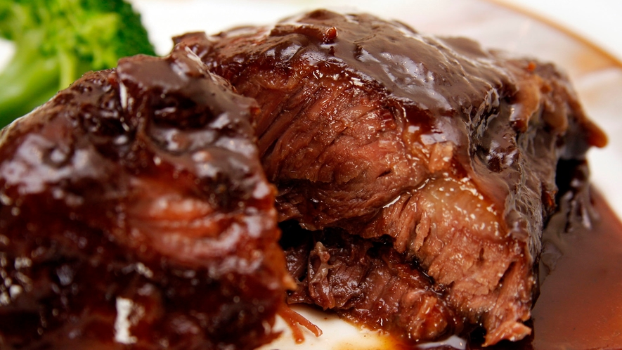 牛肉は驚くほど柔らかい