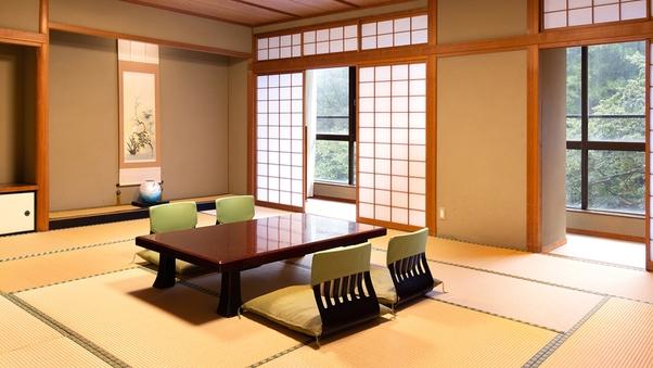 【風】渓流を望む和室8〜15畳+広縁/檜の内風呂付