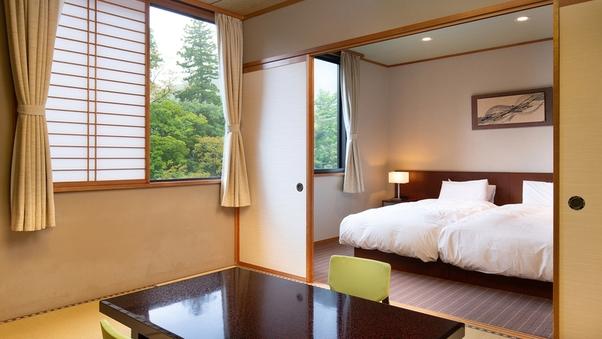 【虹】和洋室 8畳+洋室/バス付渓流側
