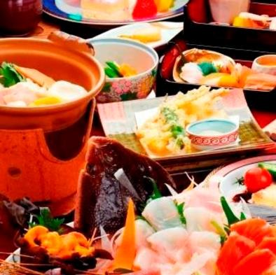 【夕食グレードアップ】南かやべ前浜海の幸グレードアッププラン