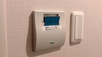 こちらにカードキーを差し込むとお部屋の電気が点灯します。