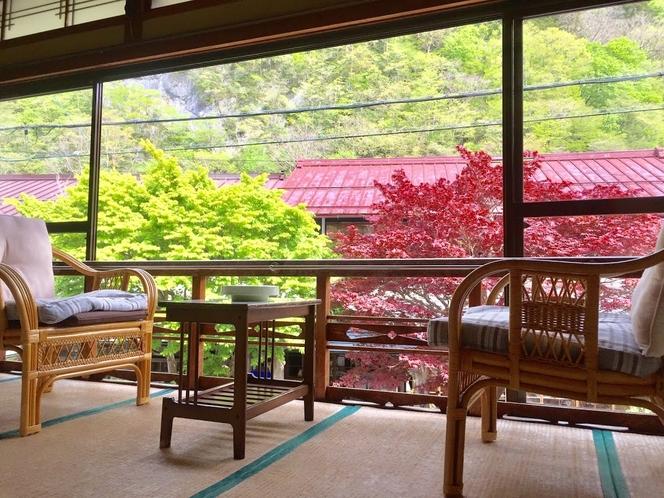 14畳和室 眺望スペース 夏
