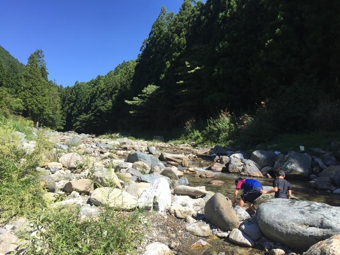 山上川(川遊び)