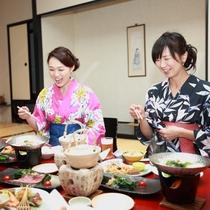 女性に大好評のシルクと桑を使用した「上州の恵み会席」