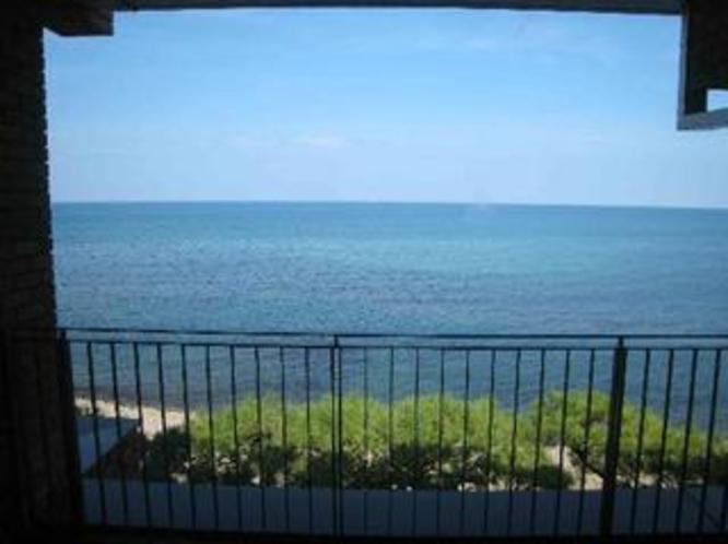 客室バルコニーからの海景色