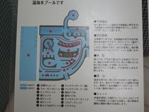 プール入り口には各アトラクションの簡単な配置図と紹介がございます。是非、巡ってみてください☆