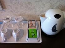 客室備品◇湯沸かしポット◇ ◇お茶セット(煎茶・ジャスミンティー)◇